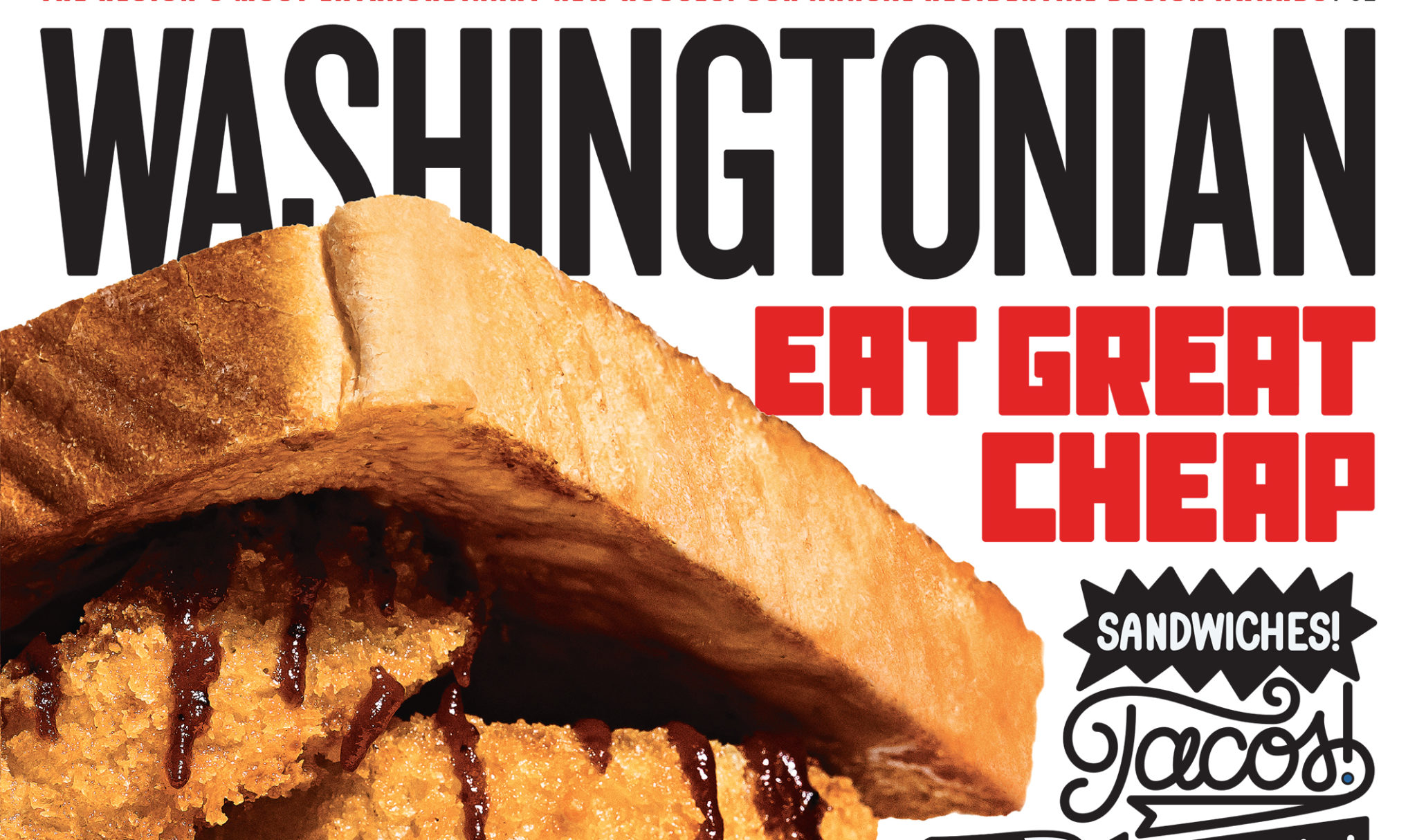 """Photograph of """"District Z"""" sandwich by Scott Suchman. Shot on location at District BBQ in Vienna. Lettering by Timothy Goodman."""