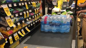 Look at the Empty Bottled-Water Shelves at DC Grocery Stores