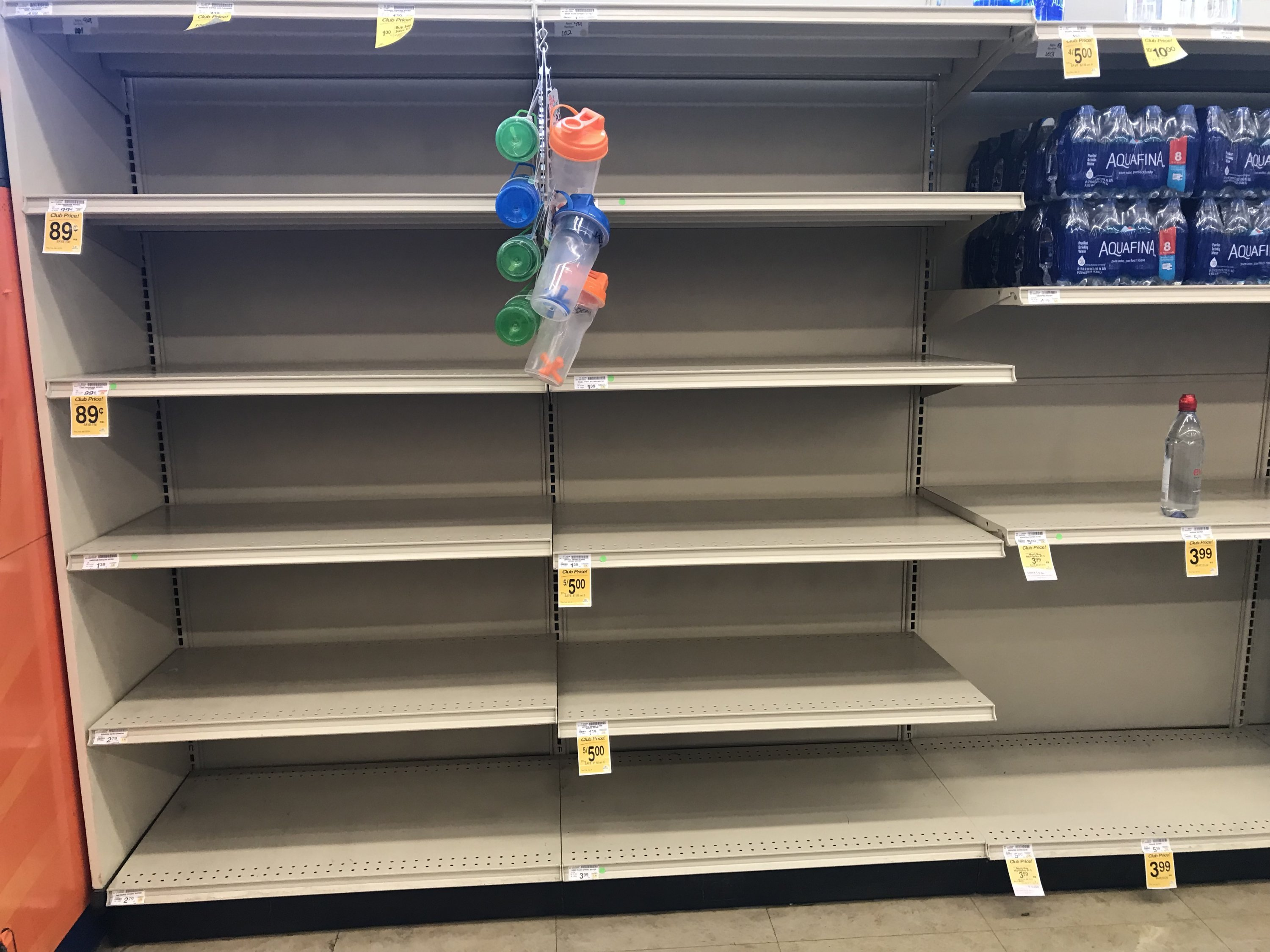 Look at the Empty Bottled-Water Shelves at DC Grocery Stores images 4