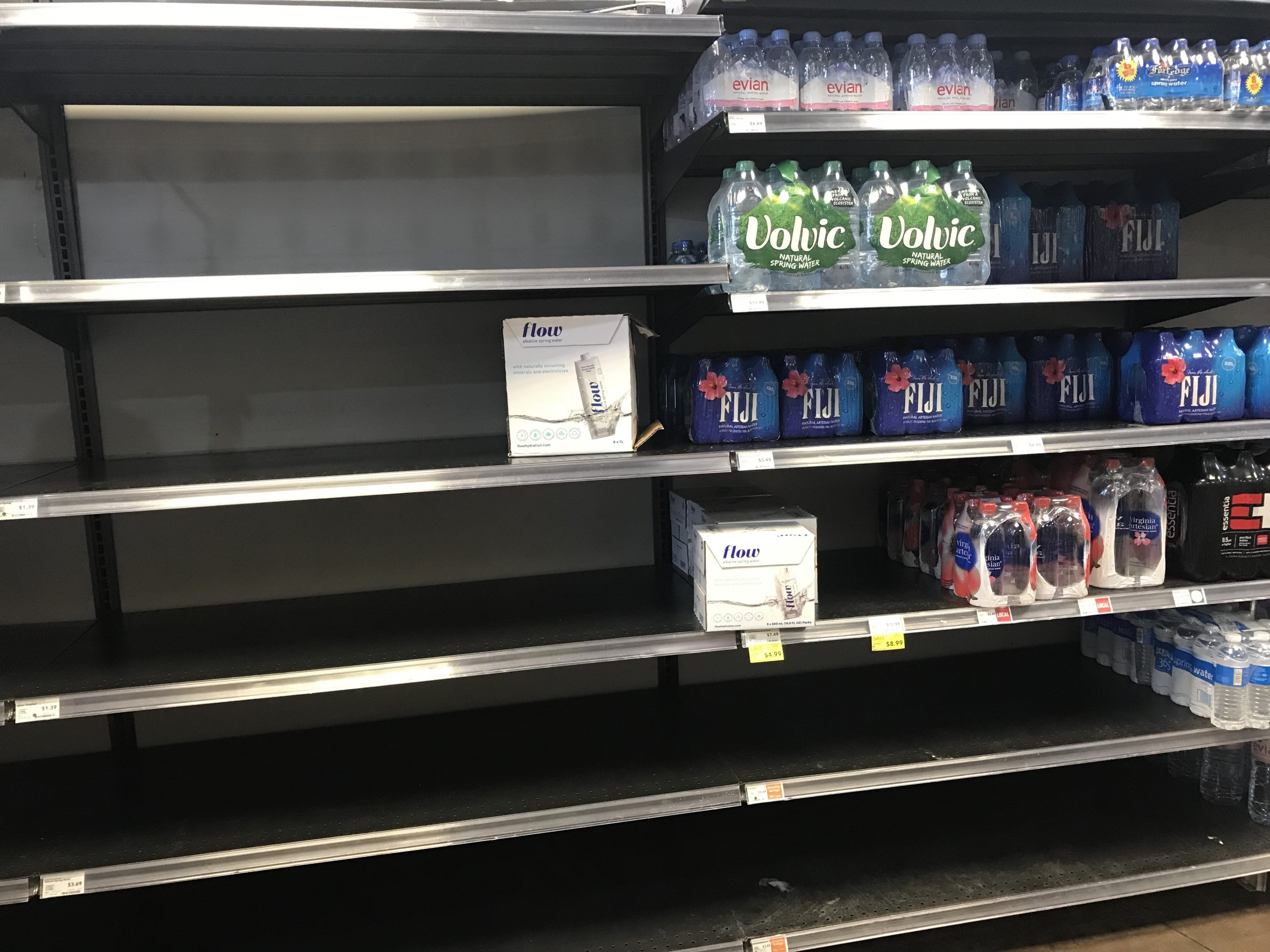 Look at the Empty Bottled-Water Shelves at DC Grocery Stores images 3