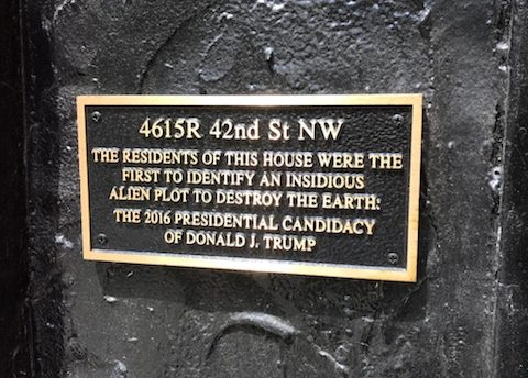 A DC Couple Hung a Plaque on Their Home Trolling President Trump and So Can You