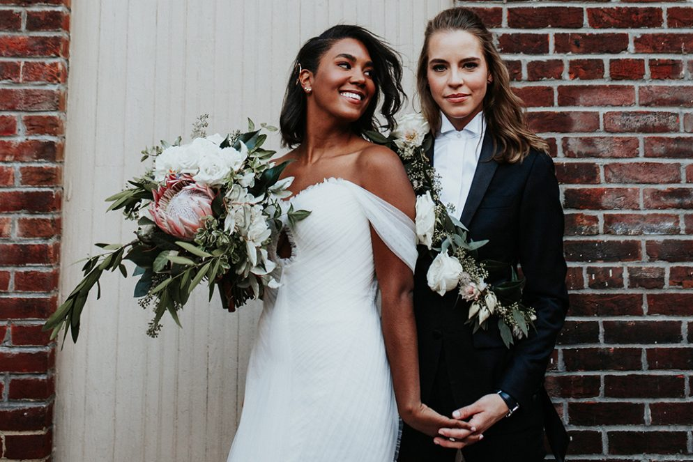 Floral Sashes, Motorcycles, and a Maya Angelou Reading: These DC Brides' Fathom Gallery Wedding is the Stuff of Hipster Dreams