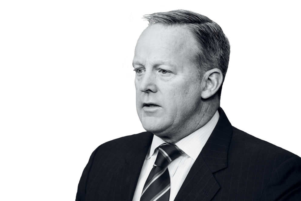 Sean Spicer on Good Reporters, Former Colleagues, and How People Have Been Treating Him in Public