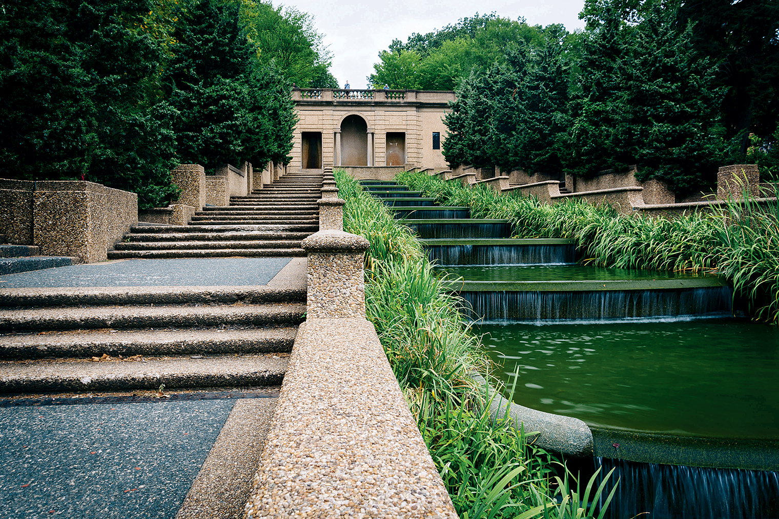 1,000-yard stair: Meridian Hill Park, built for speed. Photograph by Jon Bilous/Alamy.