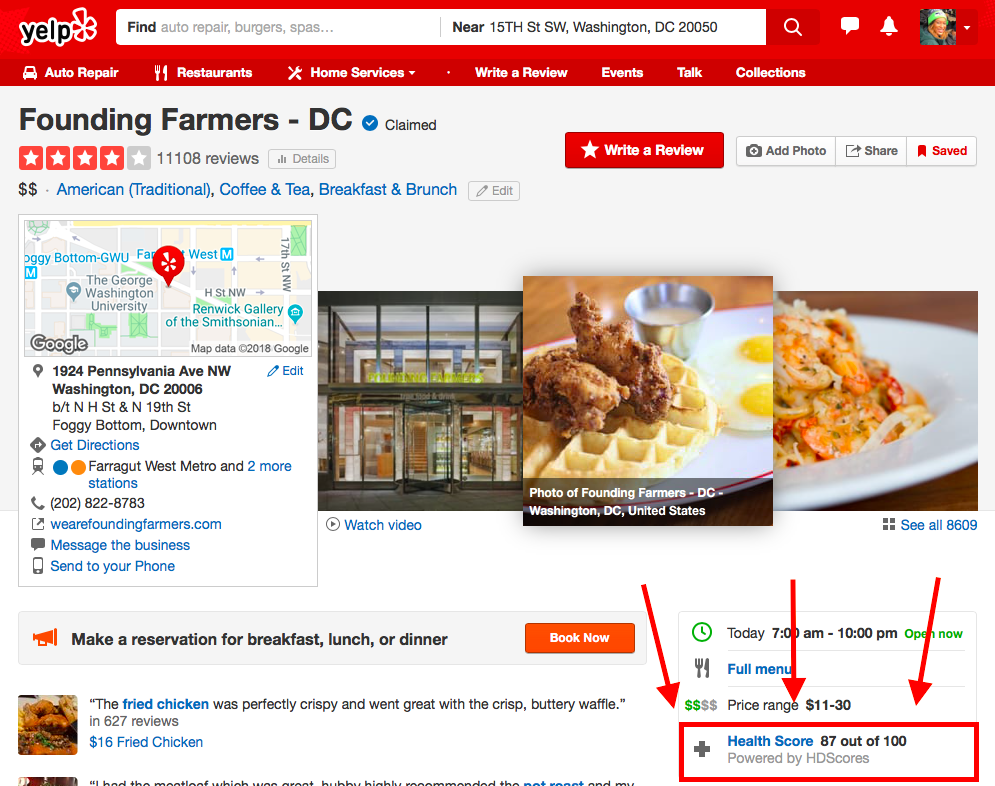 Yelp Adds Health Inspection Scores For Dc Restaurants Based