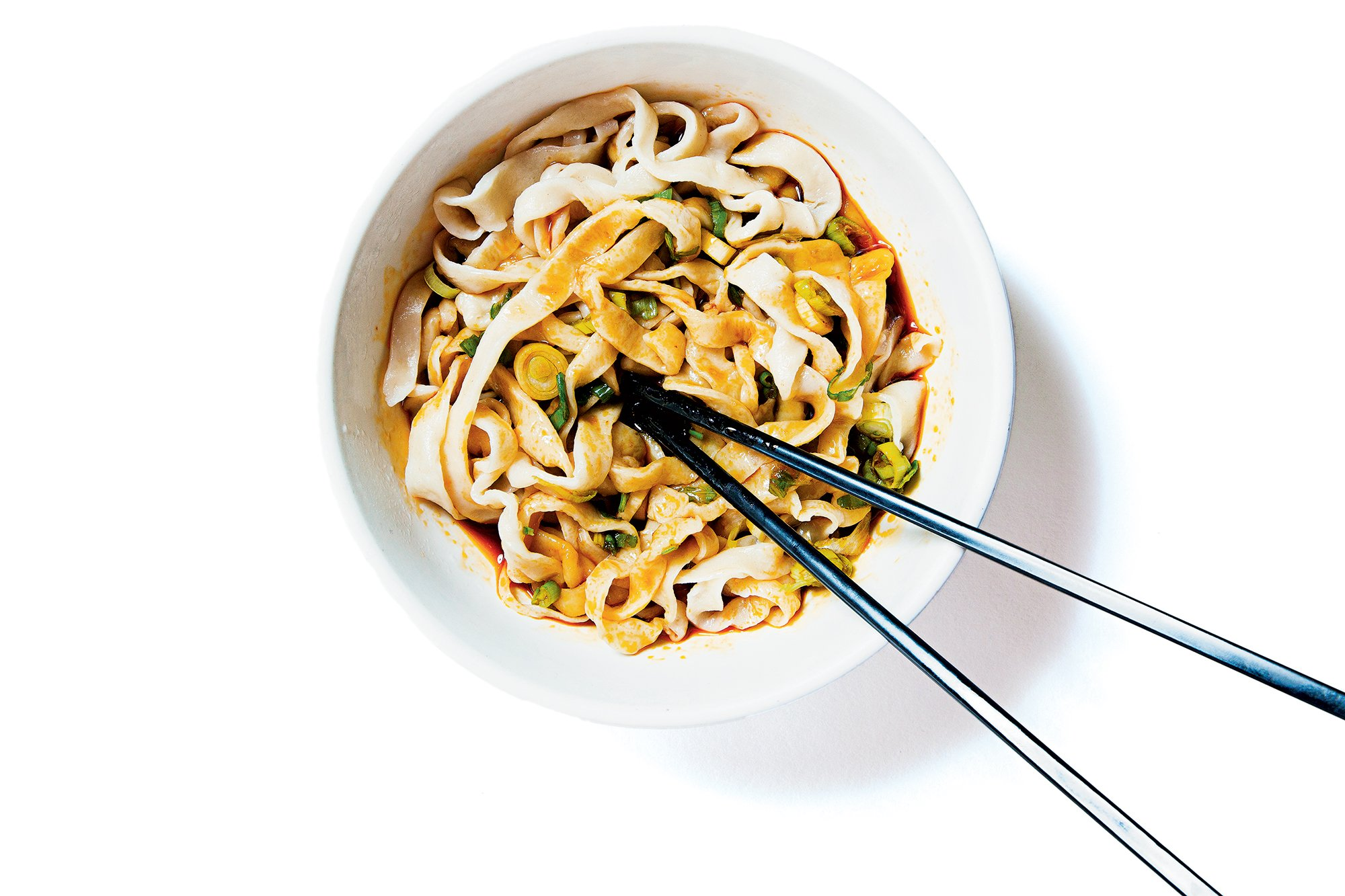 Hot-and-sour noodles at A&J. Photograph by Scott Suchman.