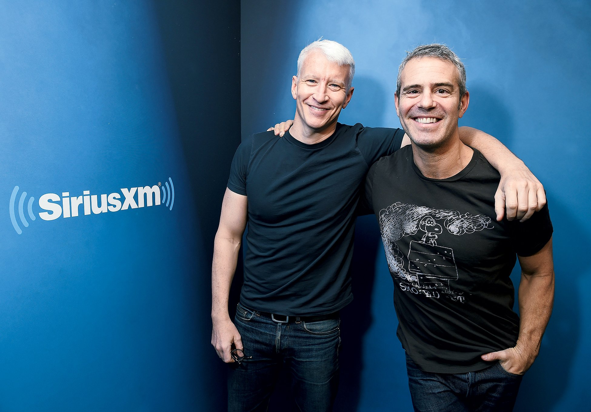 Anderson Cooper (left) and Andy Cohen. Photograph by Michael Loccisano/Getty Images.