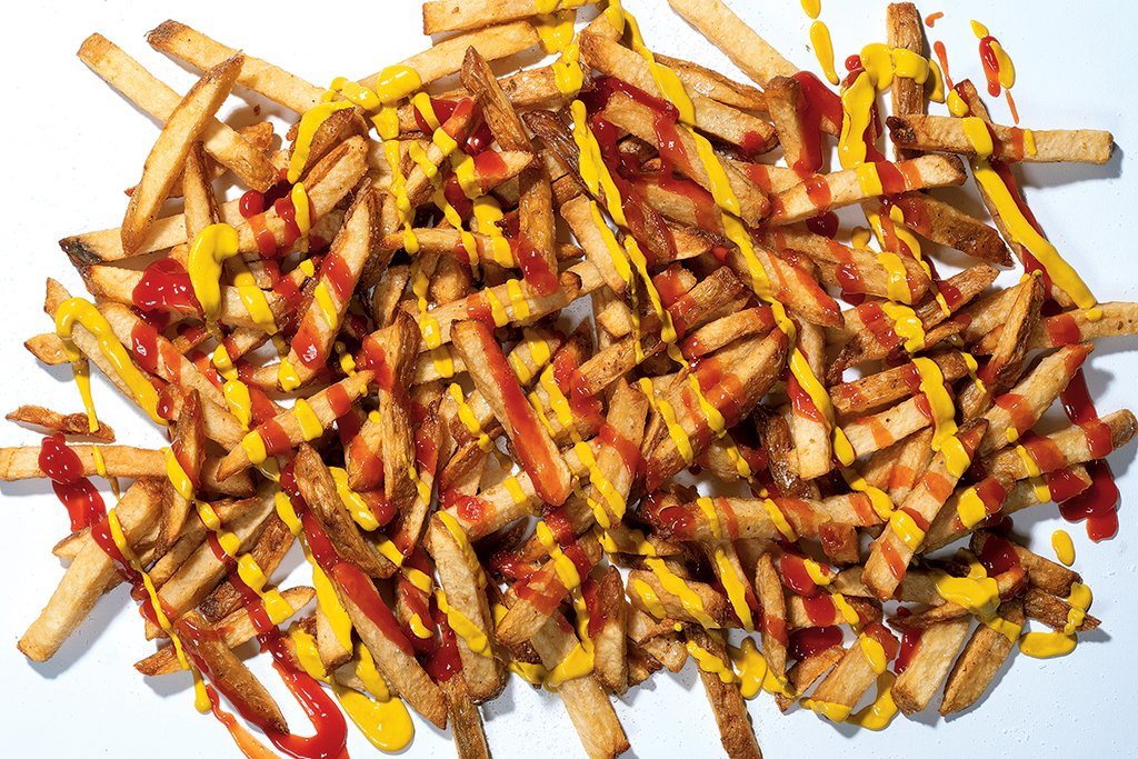 French fries at Lucky Buns. Food Styling by Nichole Bryant at The Artist Agency. Photograph by Scott Suchman.