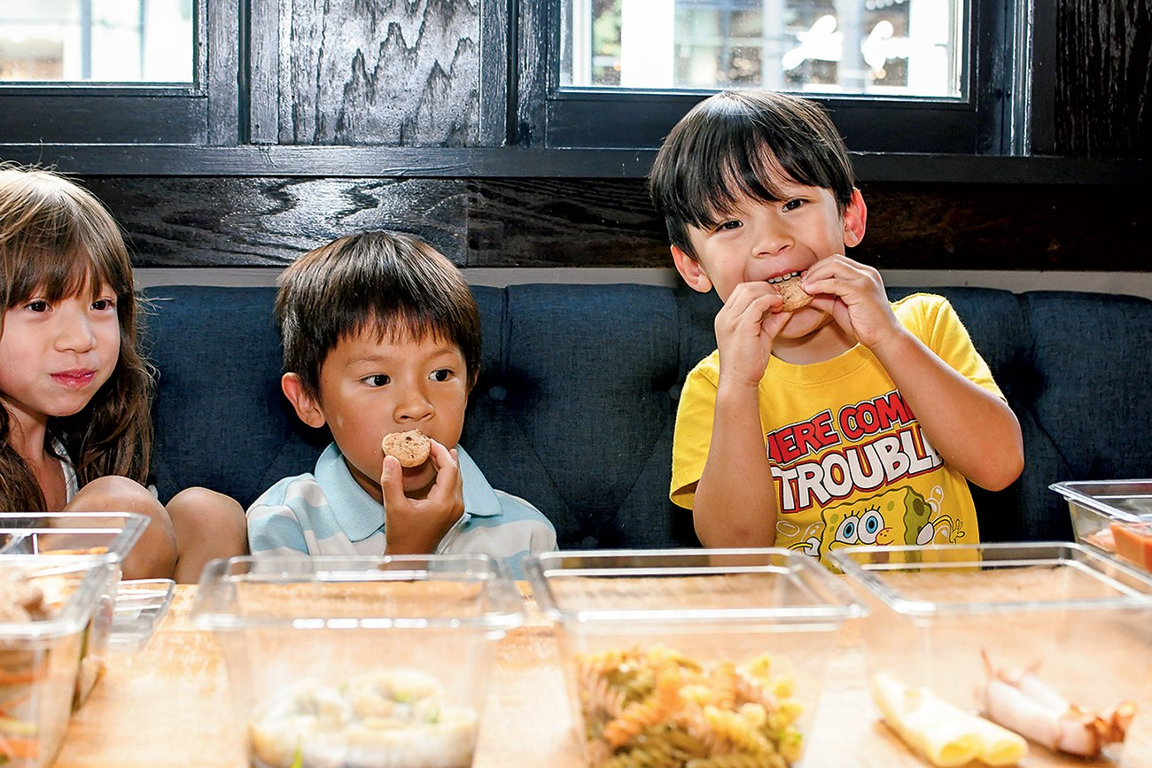 Chef Tim Ma's kids approve of his lunches. Photograph courtesy of Box'd Eats.