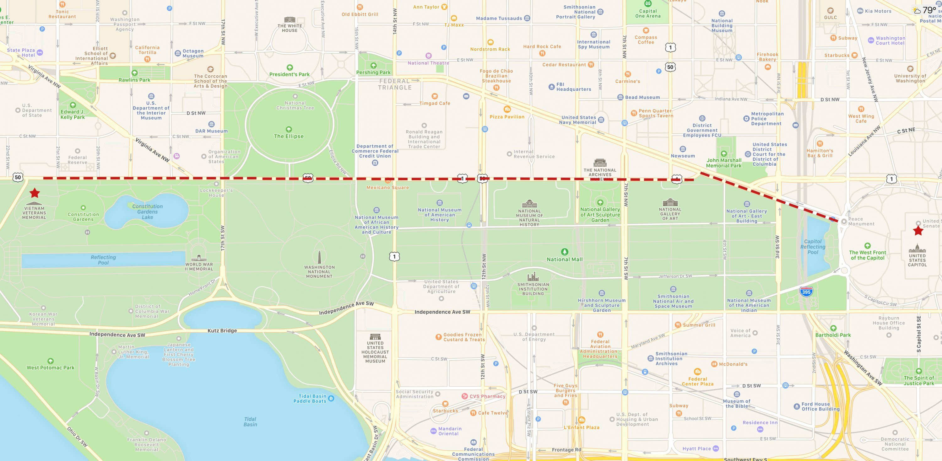 McCain DC procession route