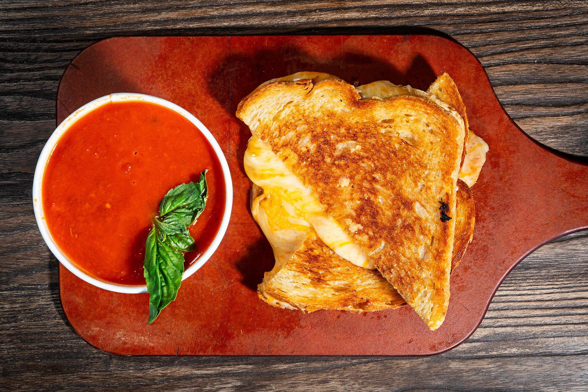 Colada Shop serves coffee and cocktails, however you want to start the day. Gooey grilled cheese and tomato soup at Glen's Garden Market. Photograph by Scott Suchman