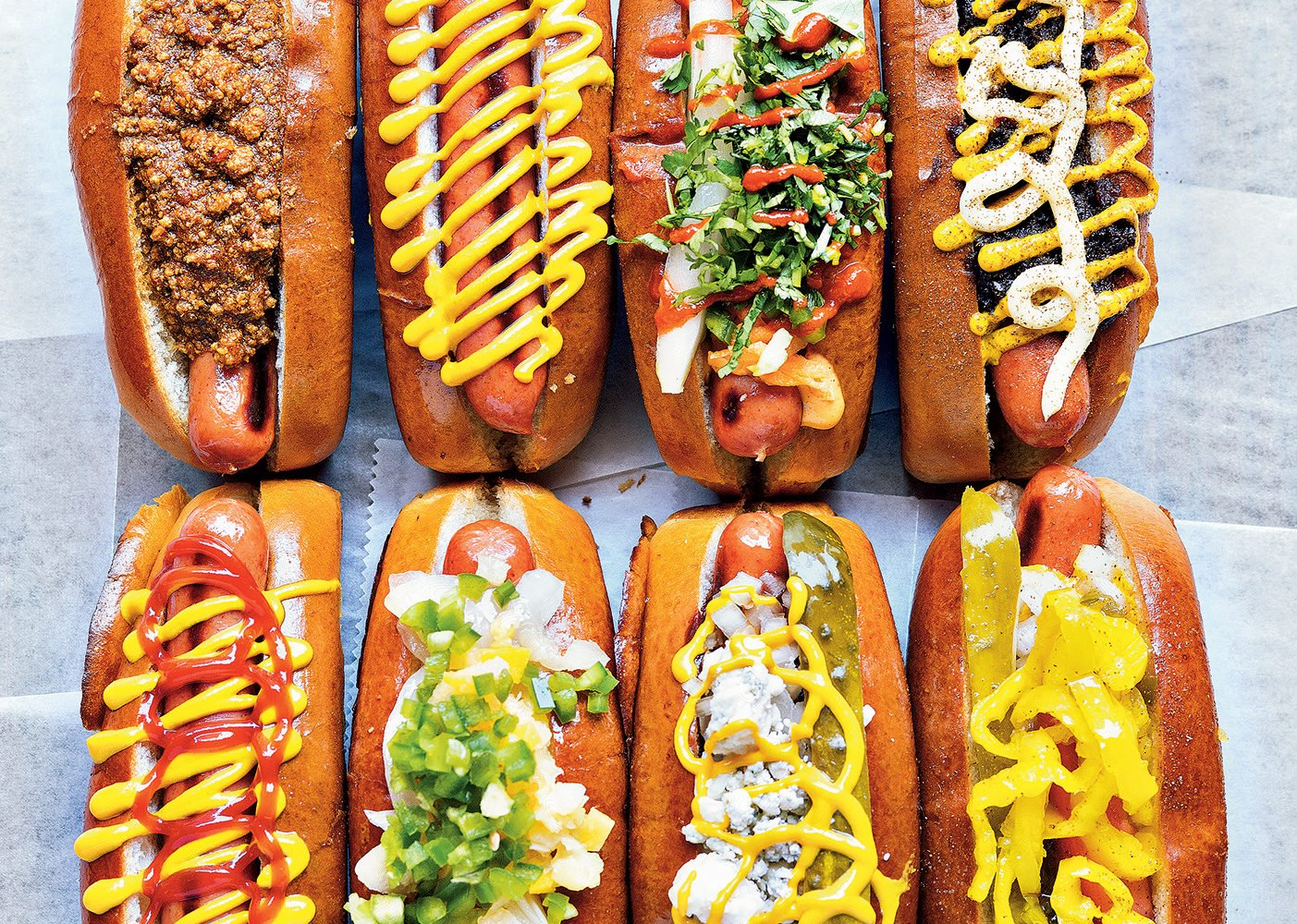 Franks at Haute Dogs and Fries. Photograph by Scott Suchman.