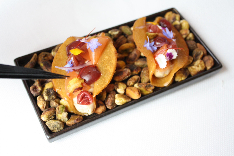 Mirabelle foie gras tacos
