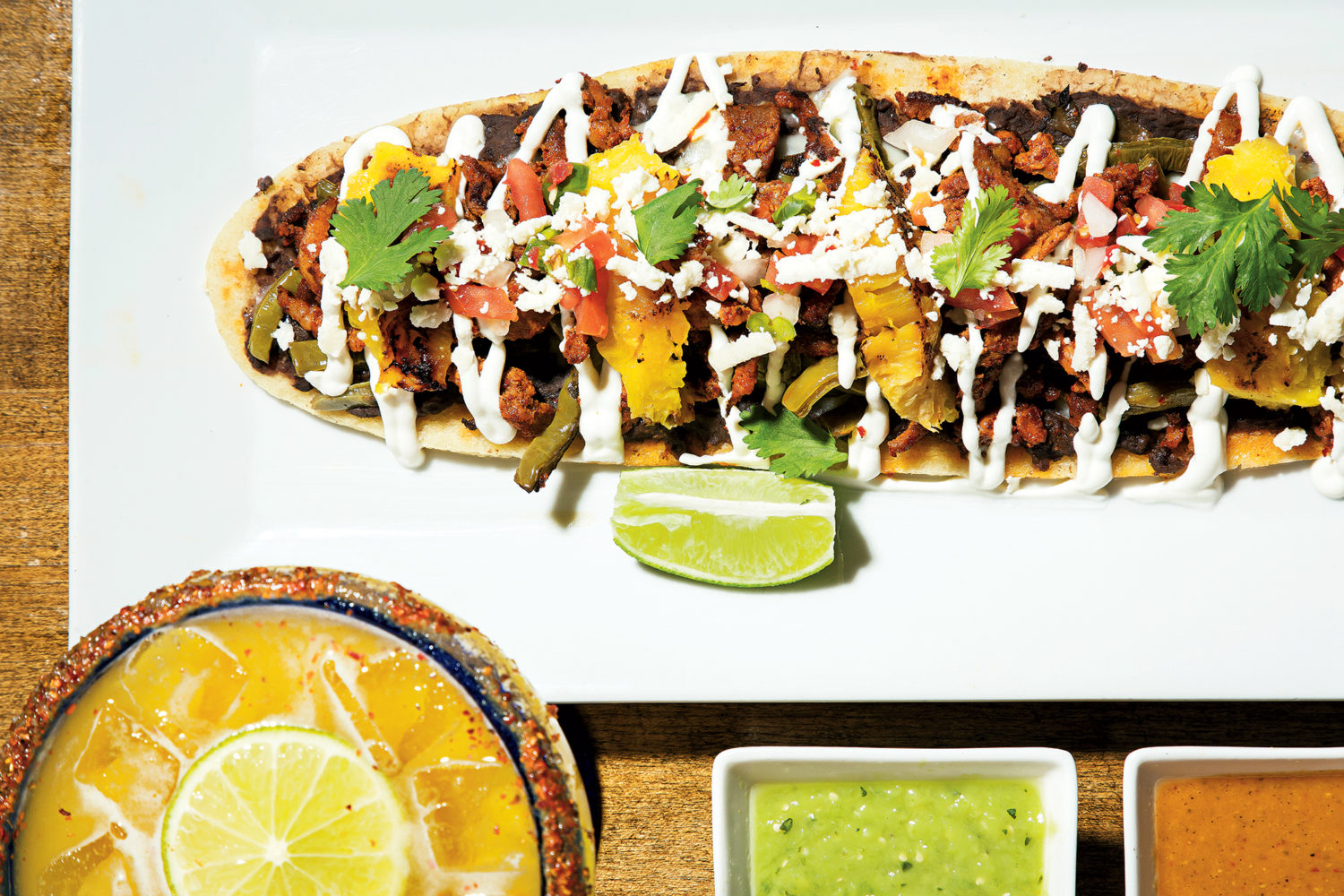 Pork huarache at Mezcalero. Photograph by Scott Suchman.