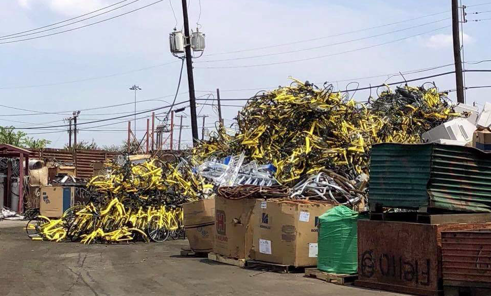Ofo bikes scrapped Dallas