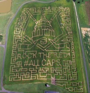There's a Giant Corn Maze in Maryland Dedicated to the Caps' Stanley Cup Win