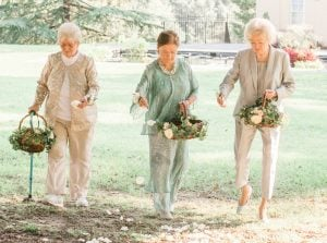 """Forget Flower Girls—Chic """"Flower Grannies"""" Led the Way Down the Aisle at this Eastern Shore Wedding"""