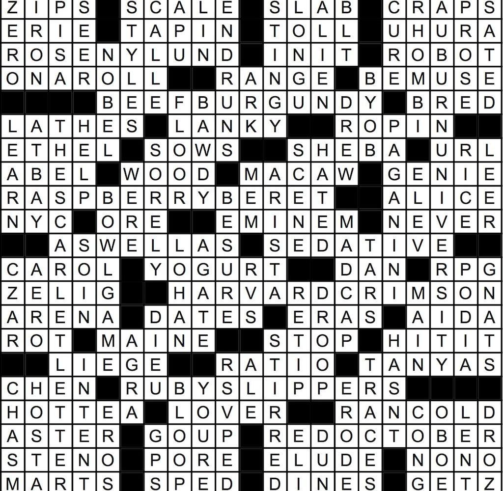 November 2017 Crossword Answer Key Washingtonian