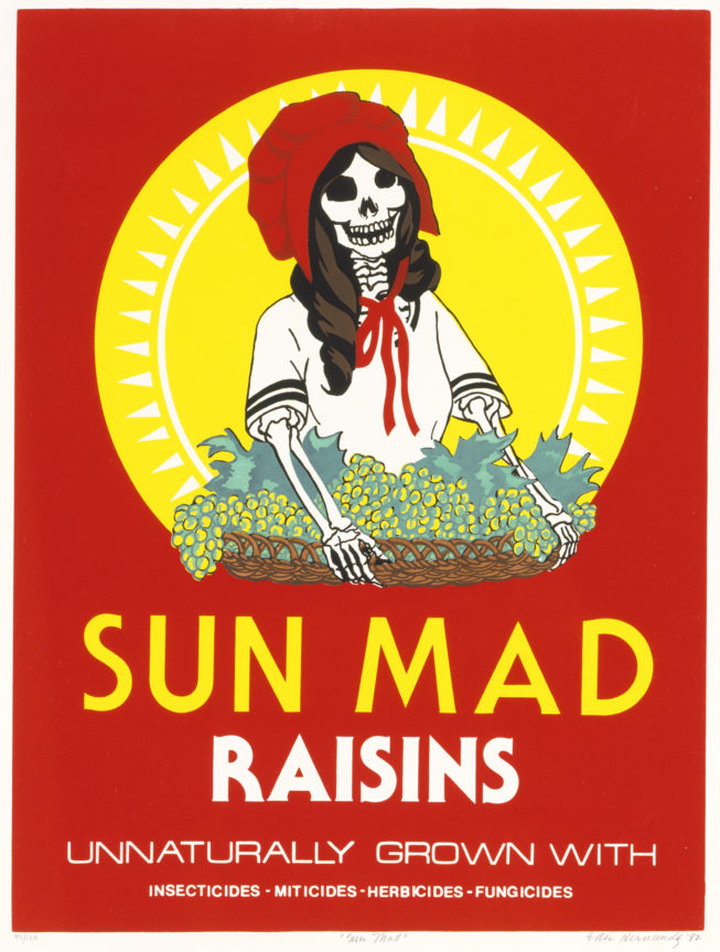 """Sun Mad"" by Ester Hernandez, 1982. Photograph courtesy of SAAM."