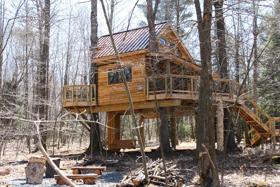 Ella's Enchanted Treehouses raise the bar for woodsy lodging. Photograph courtesy of Ella's Enchanted Treehouses.
