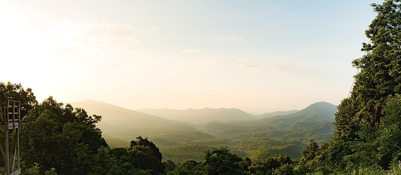 Get Appalachian Mountain views at Eupepsia Wellness Center. Photograph courtesy of Eupepsia Wellness Center.