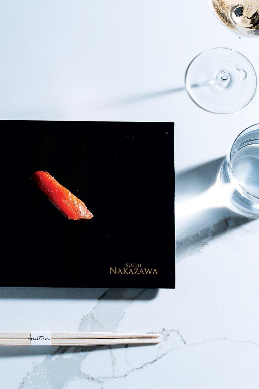 Sockeye-salmon nigiri.