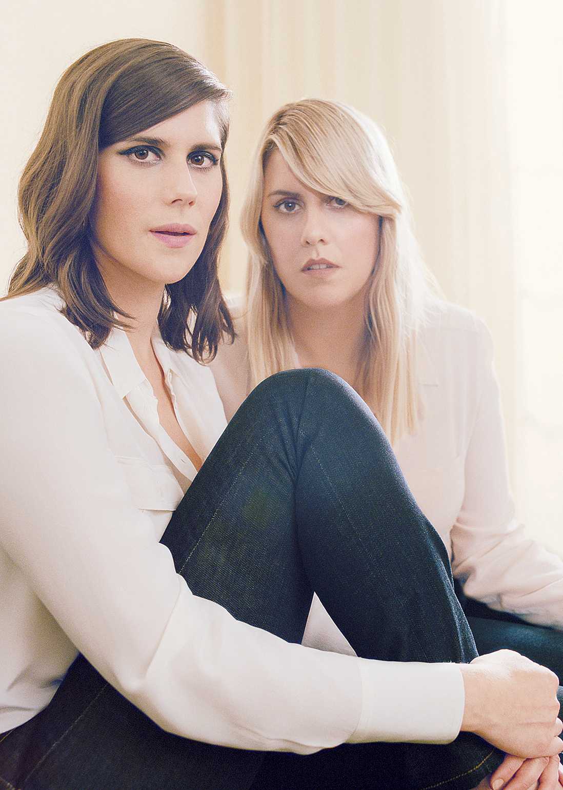 Kate and Laura Mulleavy, the sisters behind renowned LA brand Rodarte. Photograph by Autumn de Wilde.
