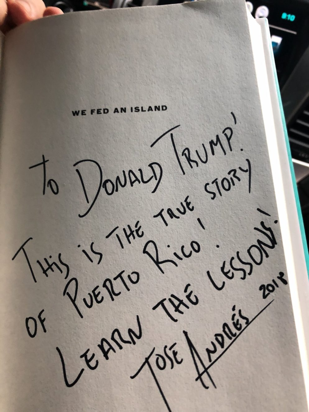 José Andrés Is Schooling Donald Trump on Hurricanes (And It's Great)