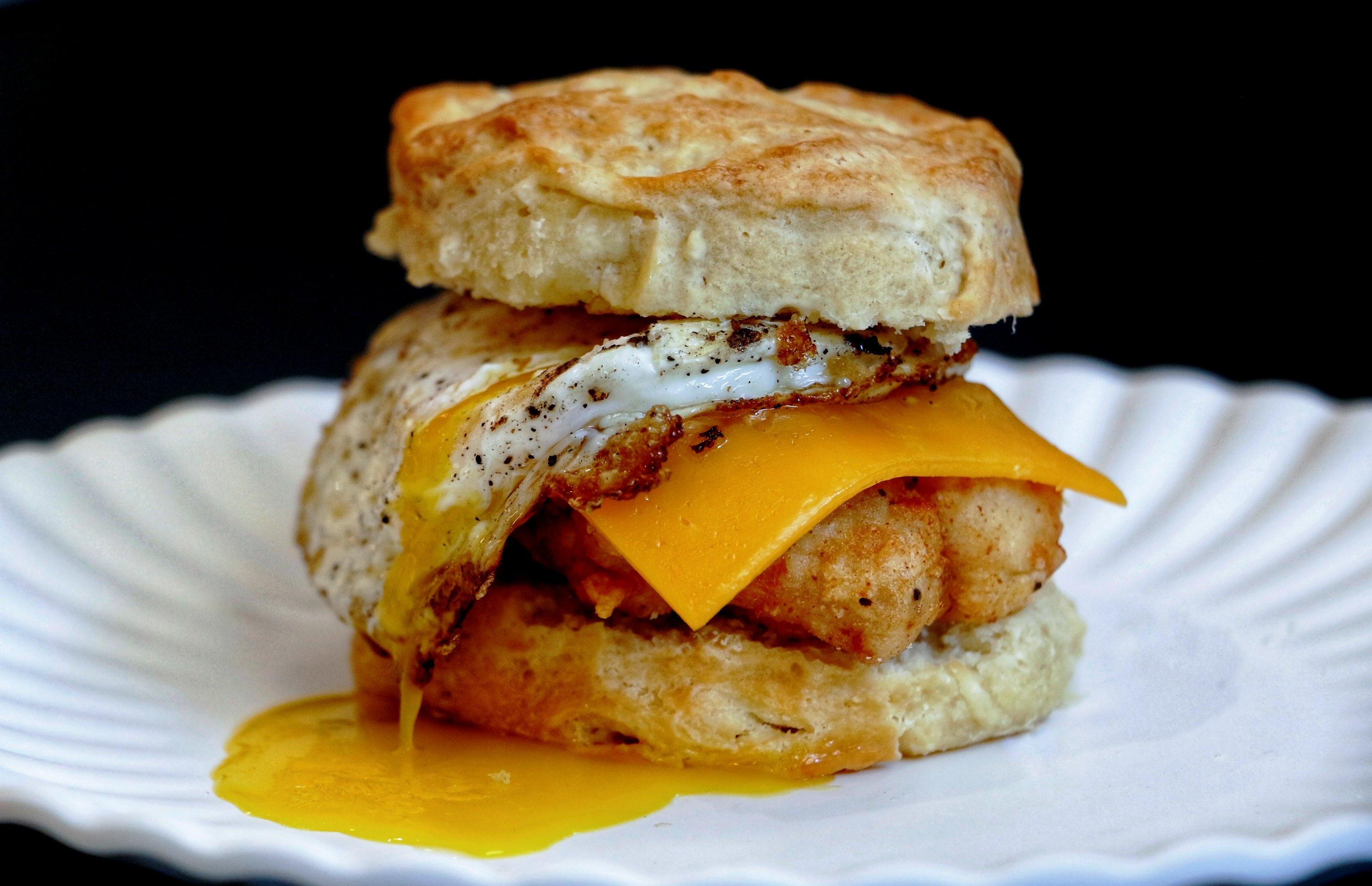 Breakfast biscuit at Mason Dixie Biscuit Co. Photograph by Jai Williams.