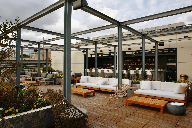 Officina the Wharf Italian market restaurant rooftop bar.