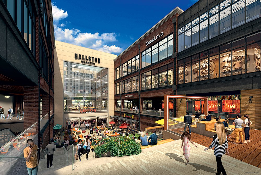 Photograph of Food Hall Courtesy of Quarter Market.