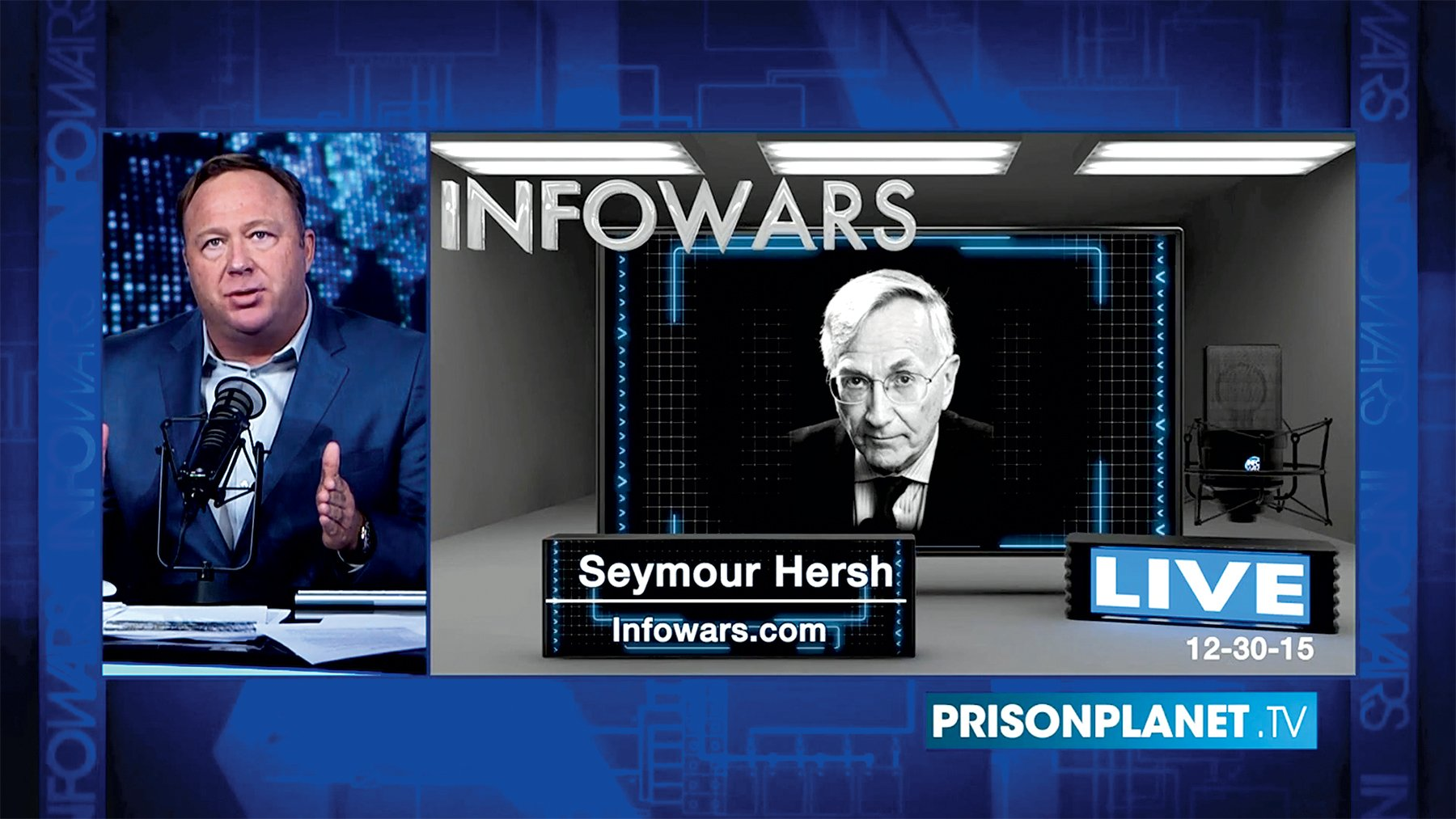 "Recently, Hersh has found a new cadre of fans through appearances on Alex Jones's show and on Kremlin-aligned RT. He calls the Russia investigations ""bullshit stuff."""