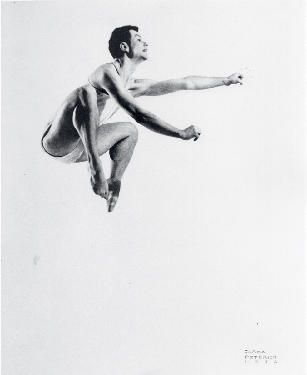 Merce Cunningham in 1952. Photograph by Gerda Peterich.
