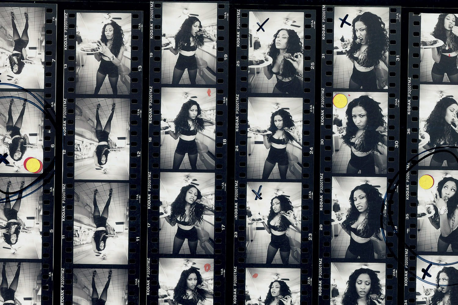 Angela Boatwright's photos of Nicki Minaj, as seen in Tobak's book. Photograph by Angela Boatwright.