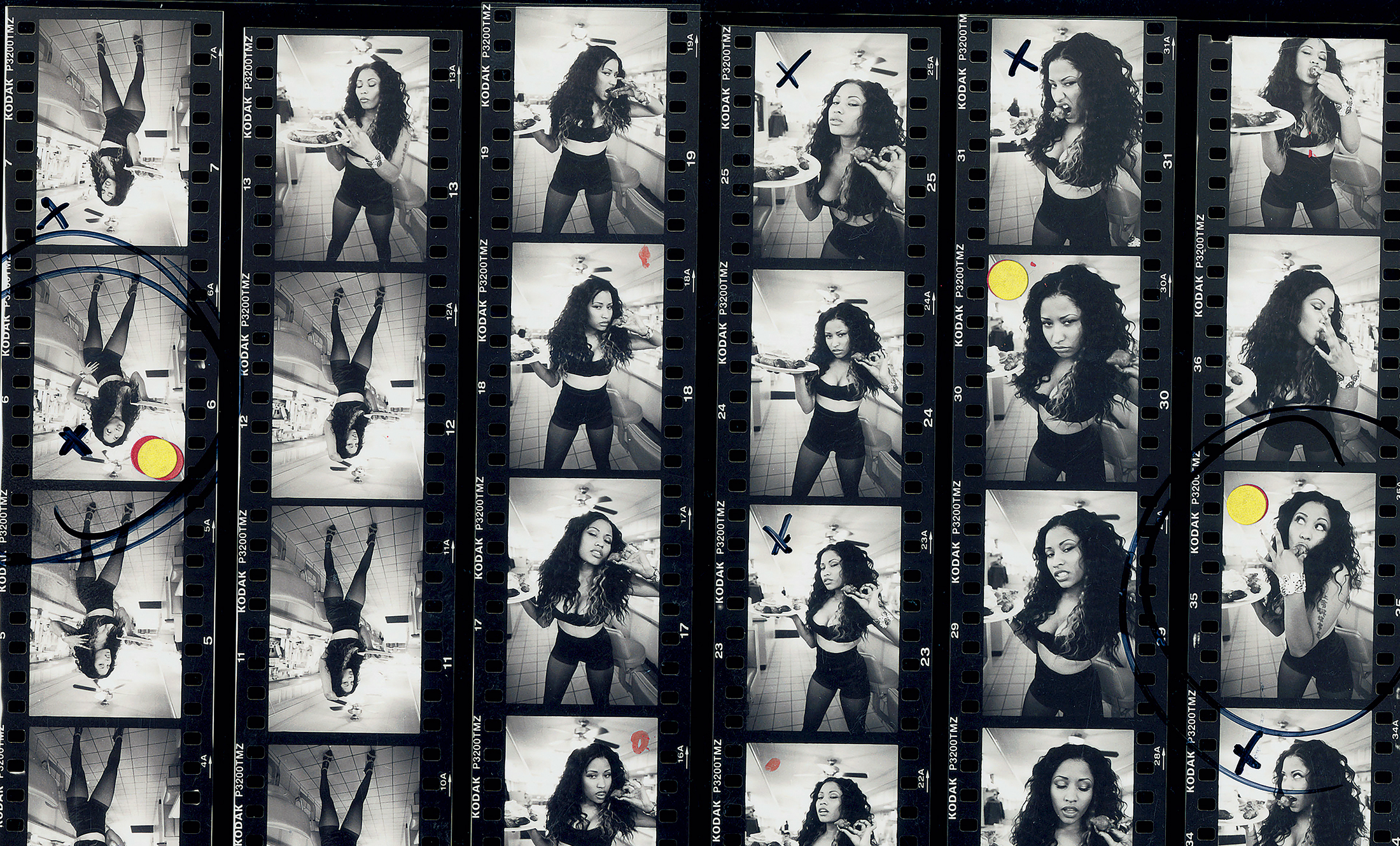 Angela Boatwright's photos of Nicki Minaj, as seen in Tobak's book.