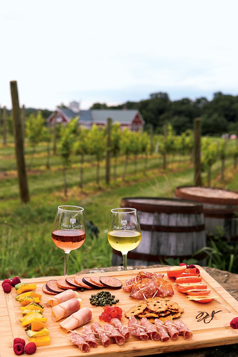 You can sample both wine and charcuterie at Philip Carter Winery. Photograph by Anna Pendleton.