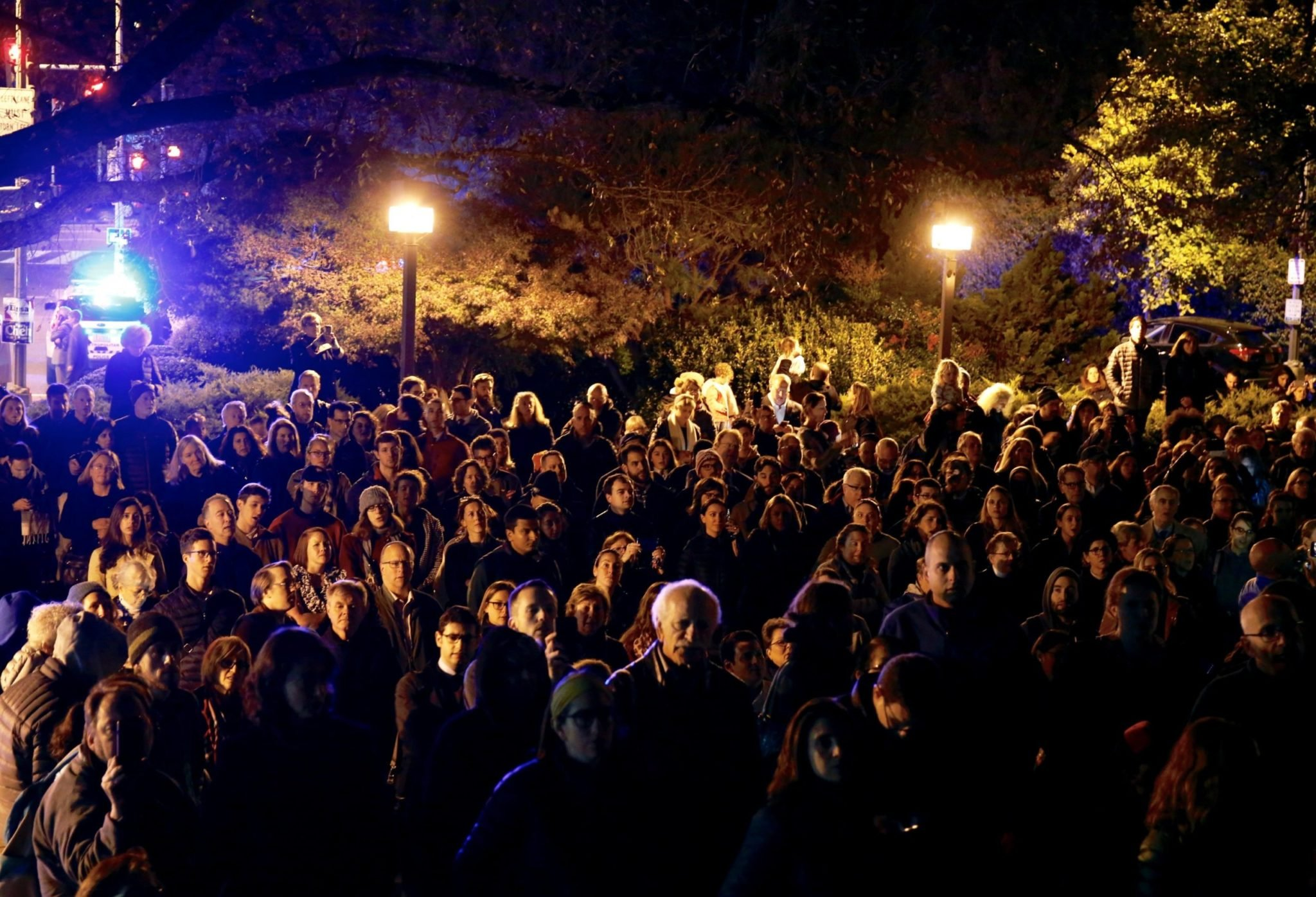PHOTOS: Crowds Fill the Streets During an Interfaith Service at a DC Synagogue
