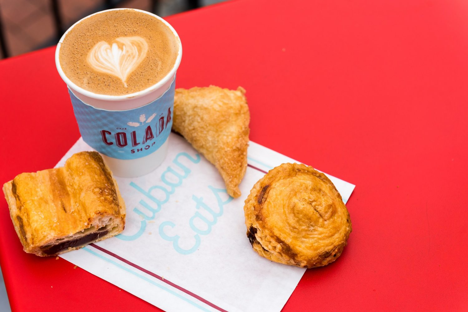 Coffee and pastries at Colada Shop. Photograph courtesy of Colada Shop.