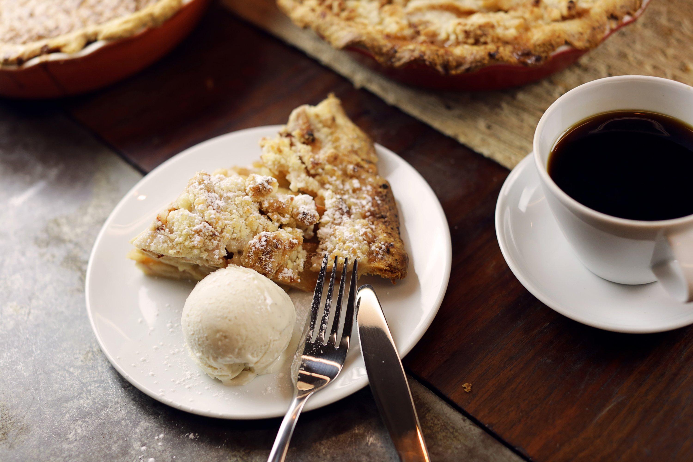 Apple pie for dessert. Photograph courtesy of Farmers Restaurant Group.