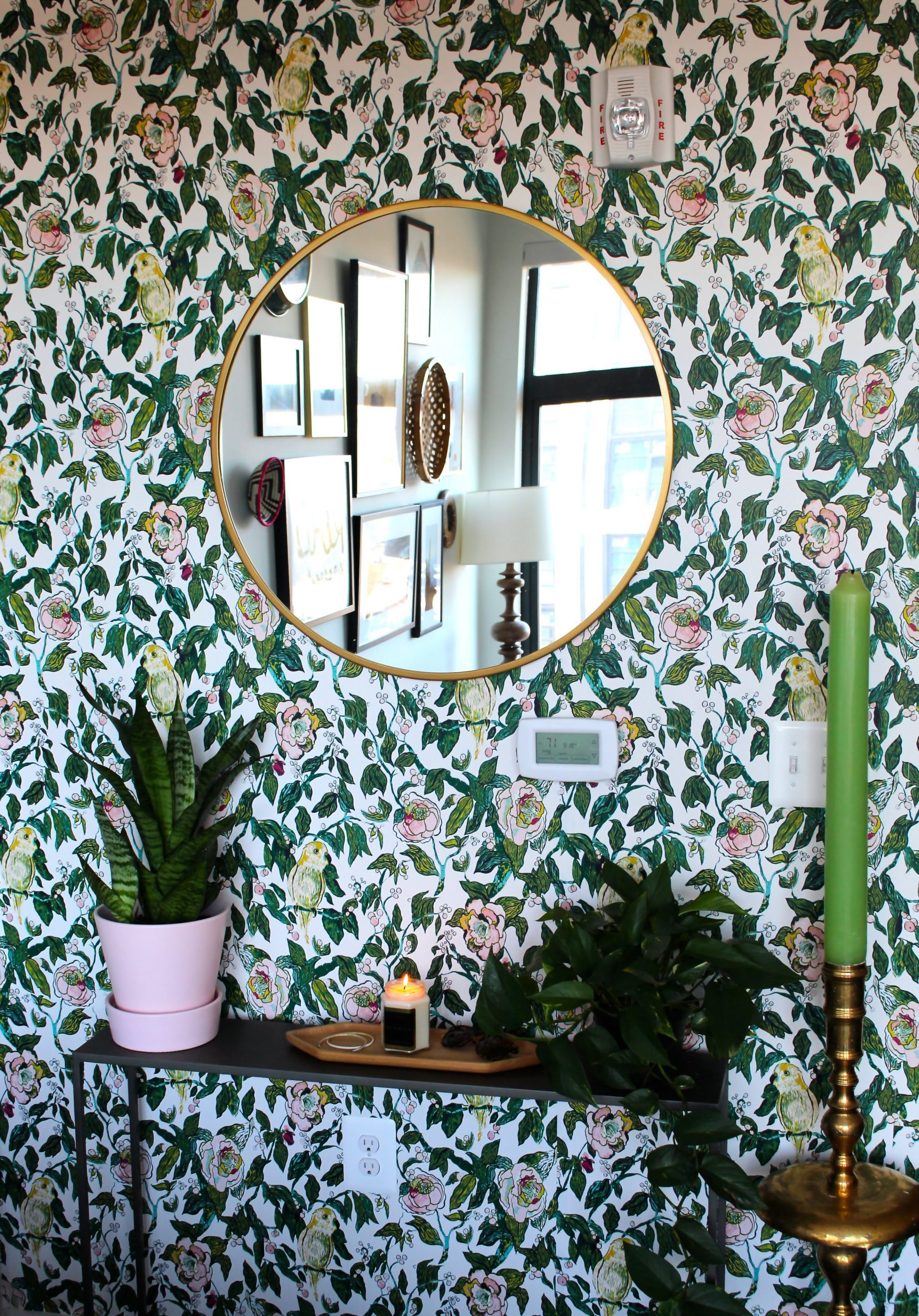 Look Inside My Home: A Union Market Apartment with Floral Wallpaper and a Disco Ball