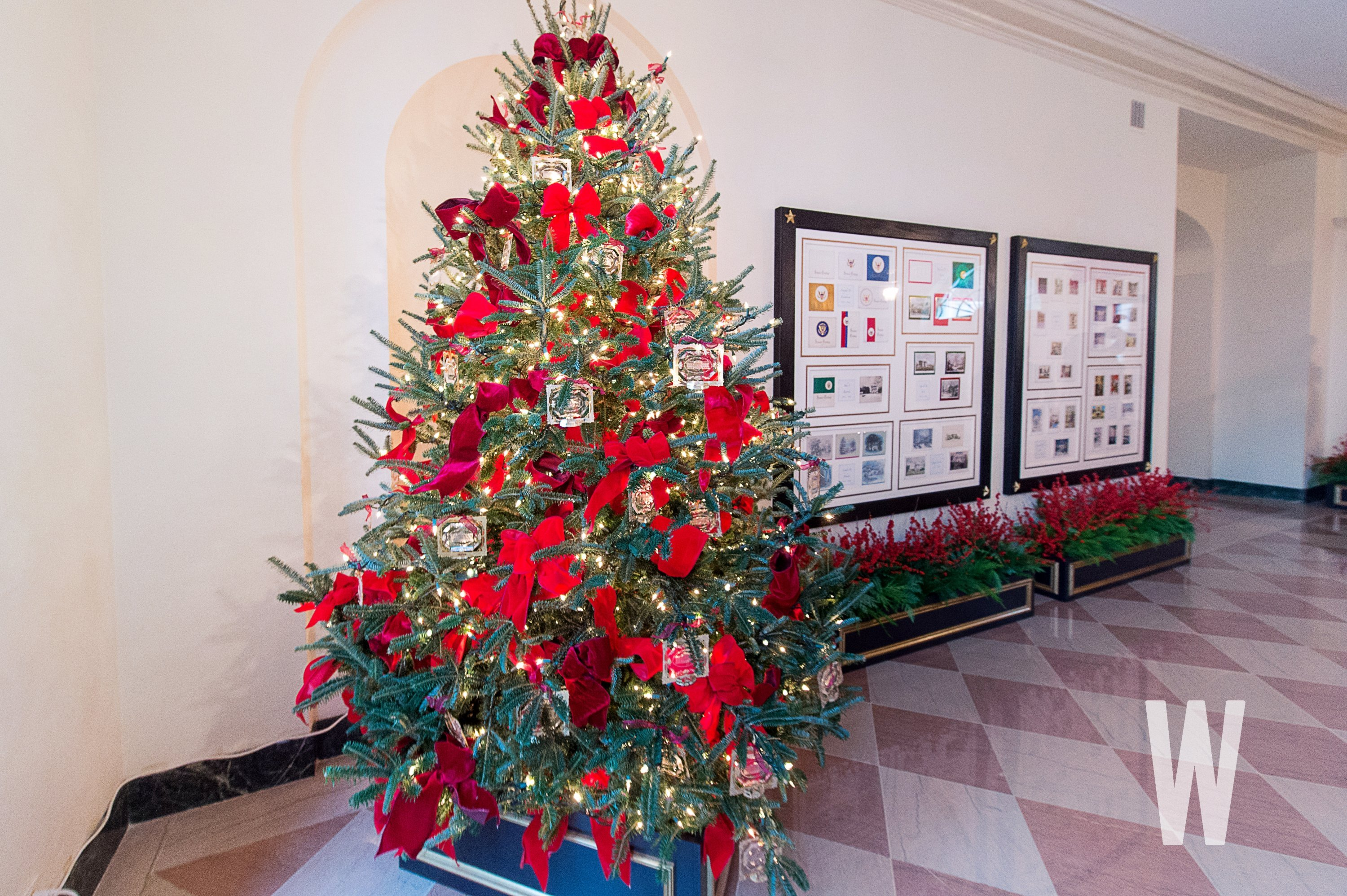 Christmas Tree Decorations 2018.Photos The 2018 White House Christmas Decorations
