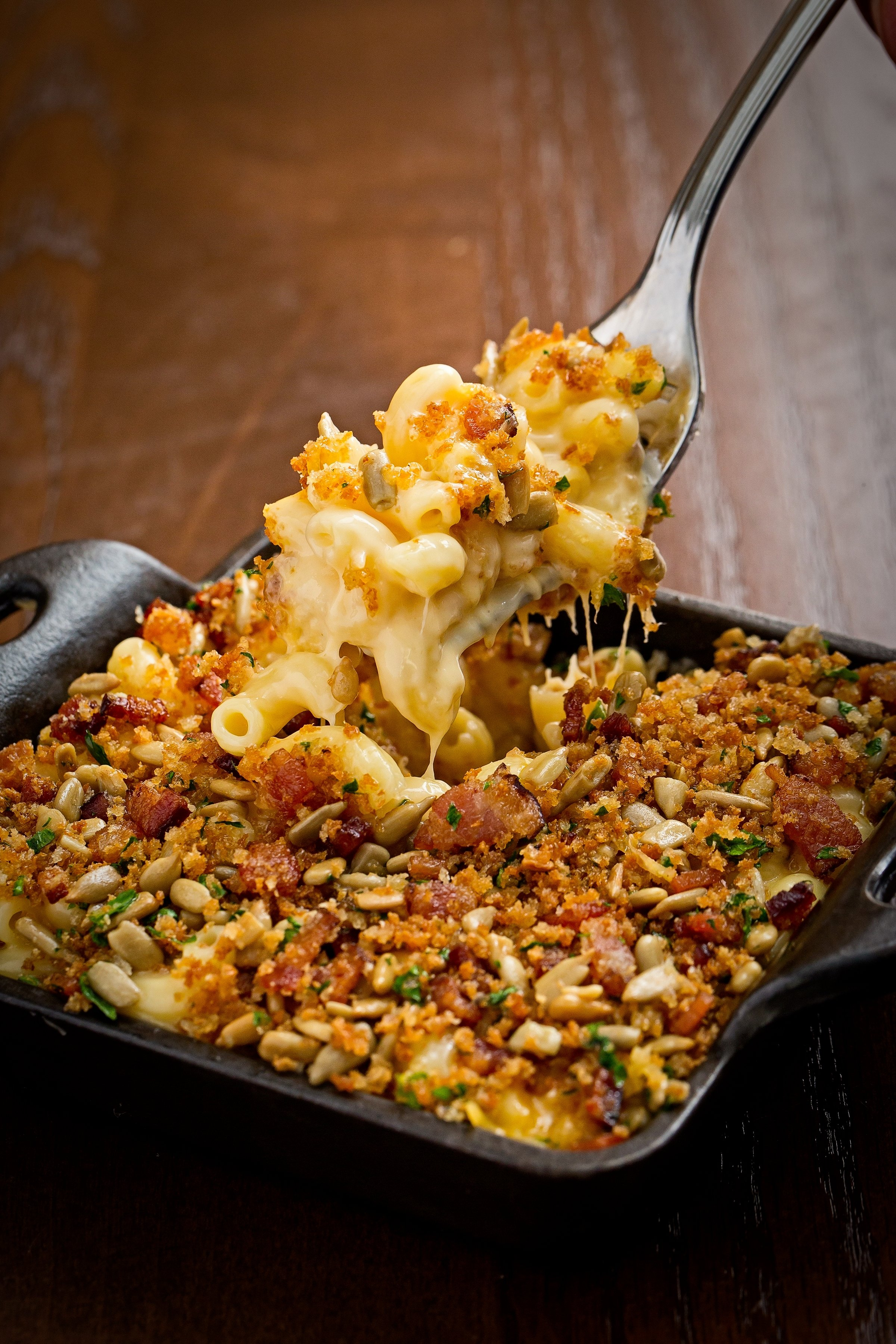 Mac and cheese at Succotash. Photograph by Clarence Butts and Scott Suchman.