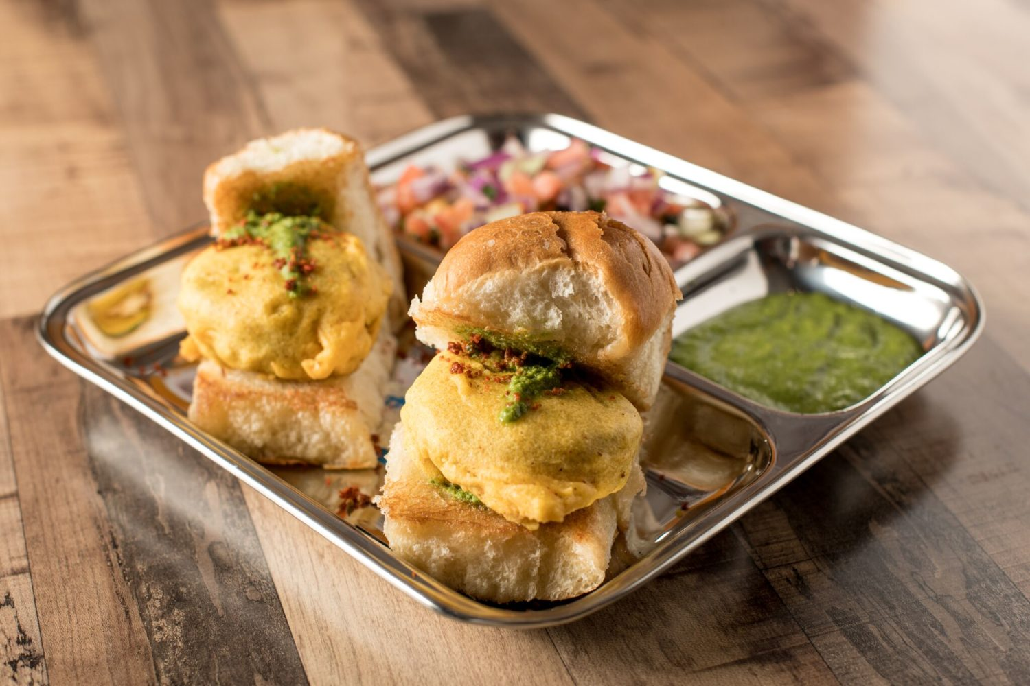 Vada Pav, one of Asad Sheikh's favorite treats growing up. Photograph by Emma McAlary.
