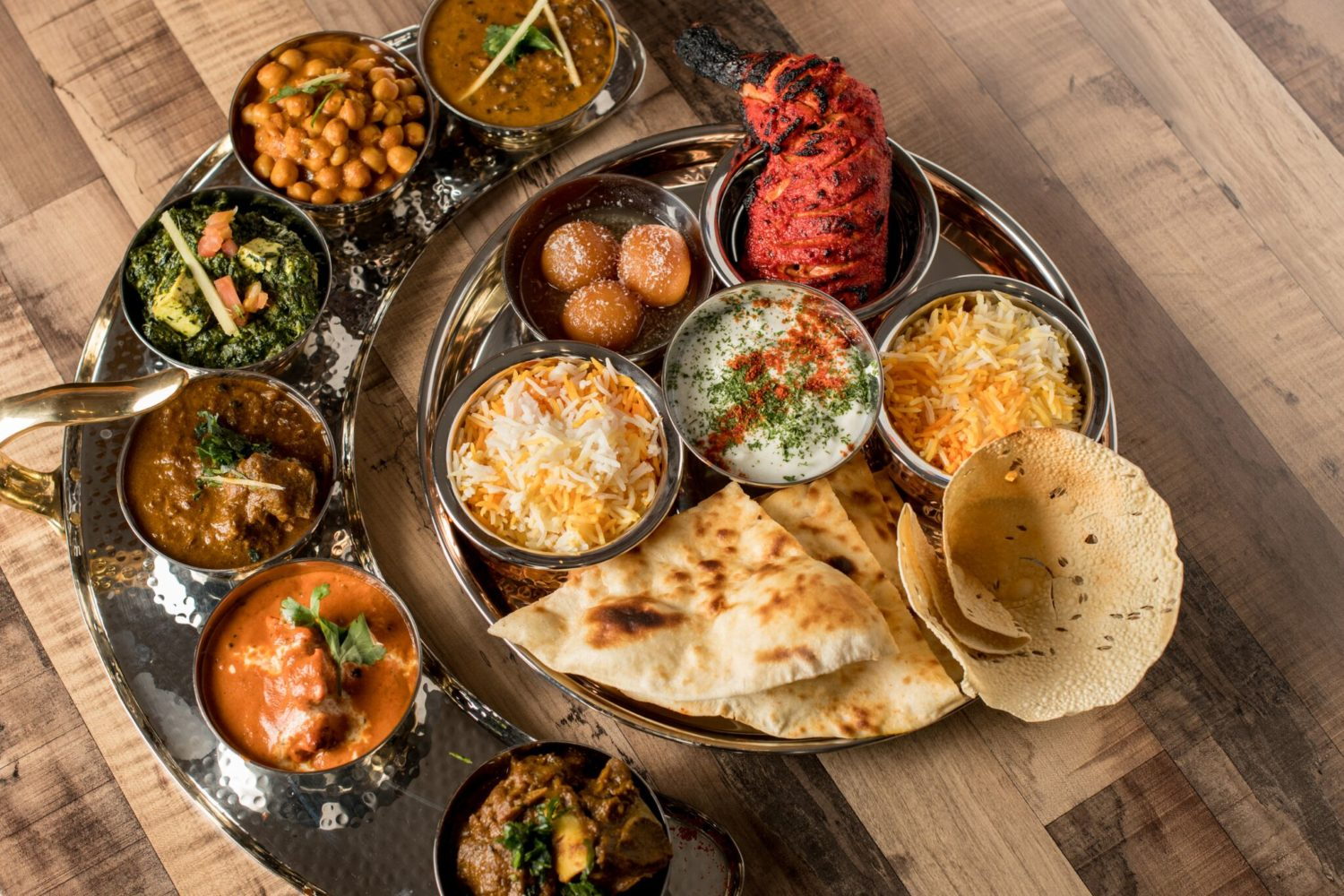 The Bombay Thali, a sampling platter of meat and vegetables. Photograph by Emma McAlary.