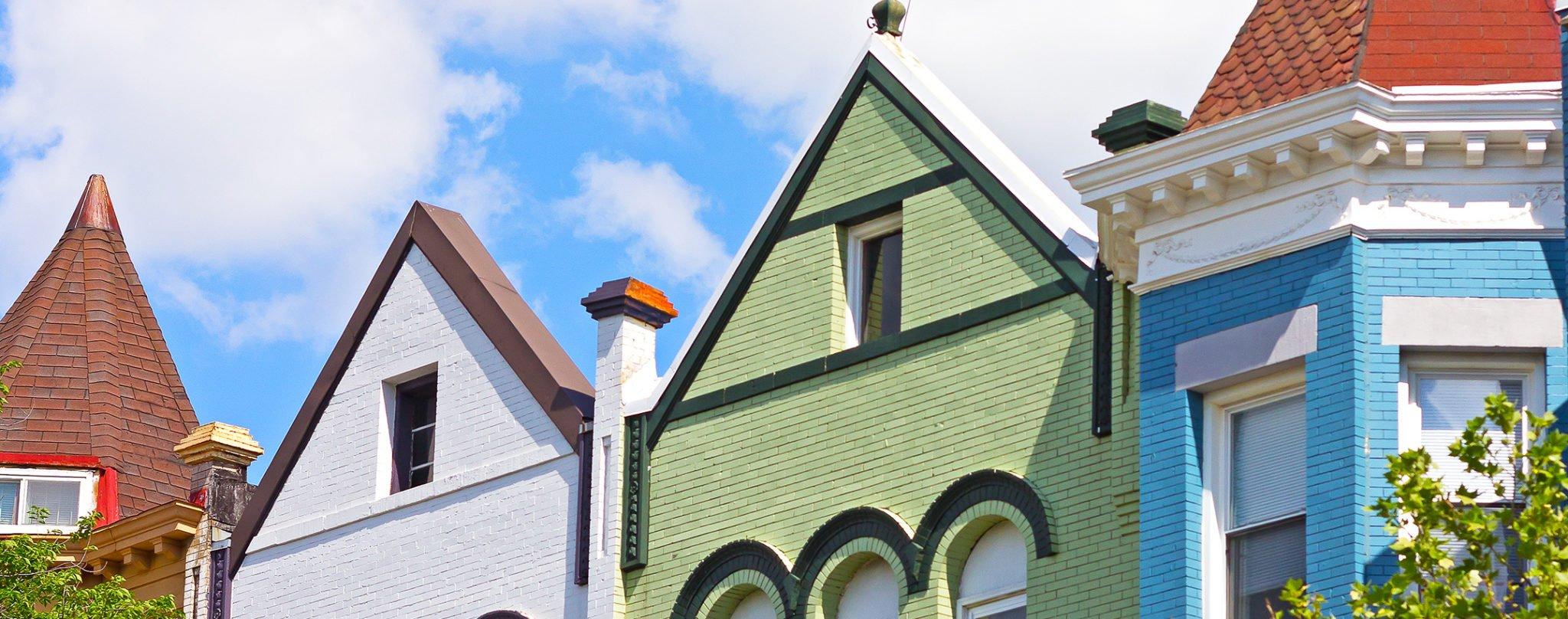 DC Neighborhood Guide: DC Rowhouses. DC Neighborhoods. Photograph via iStock.