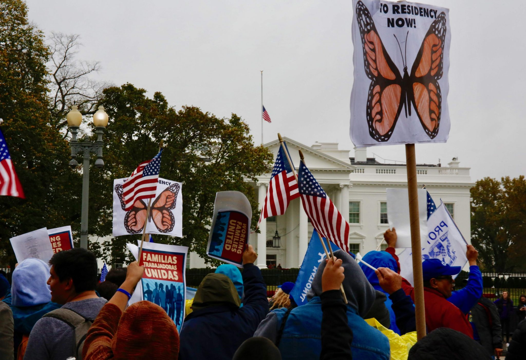Here's Why Immigrants Demonstrated in Front of the White House Today
