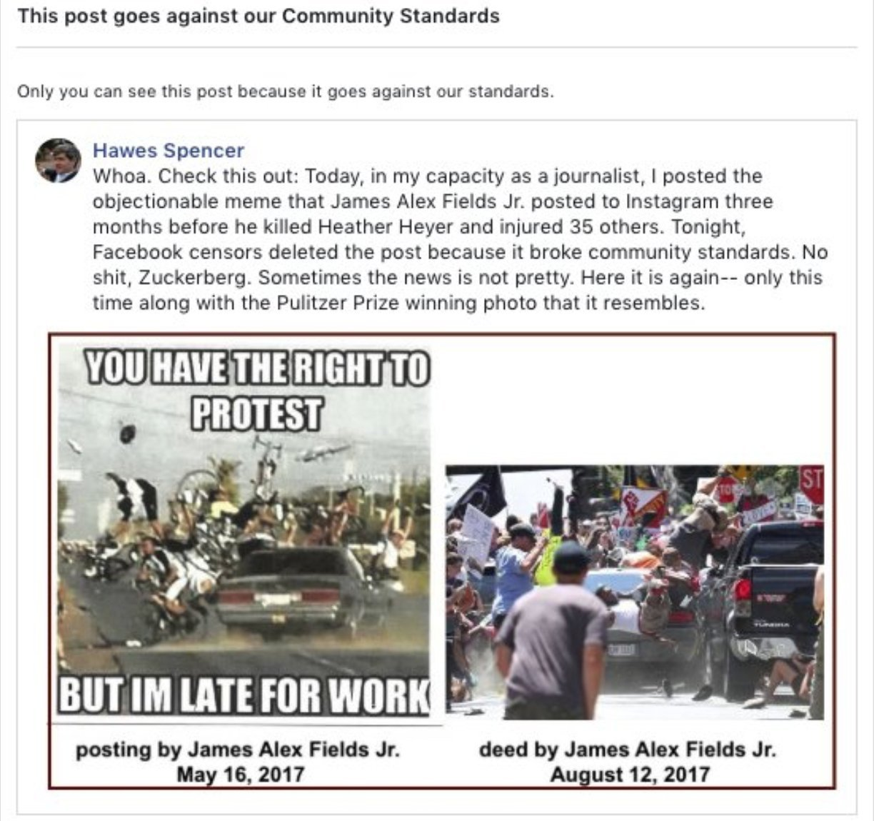 Facebook Blocks Charlottesville Journalist Who Reported on Accused ...