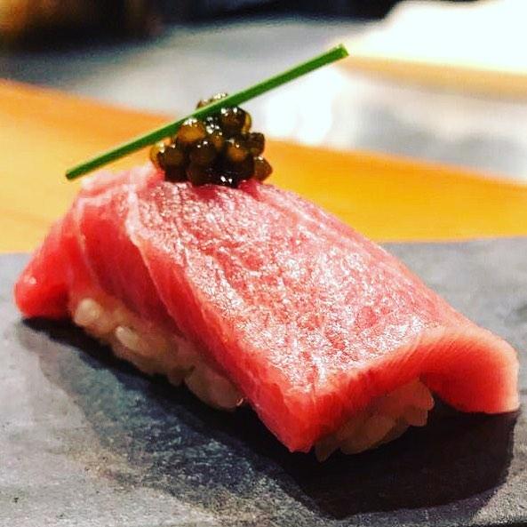 Learn how to make sushi like O-Ku's one bite nigiri at the restaurant's sushi class. Photograph courtesy of O-Ku.