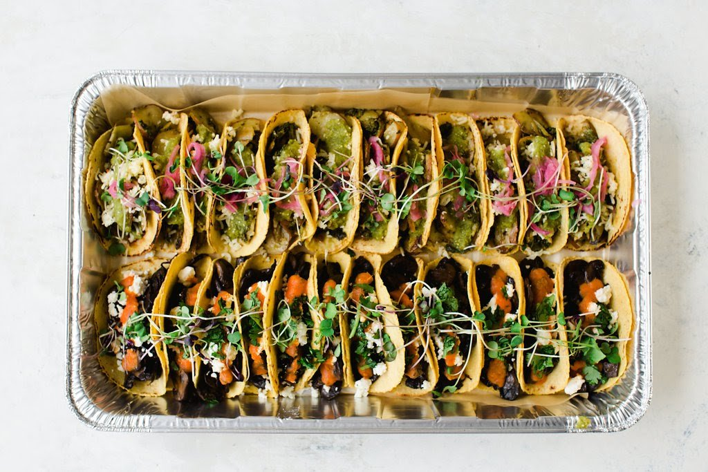 Go vegetarian for the Super Bowl with Chaia tacos. Photograph courtesy of Chaia.
