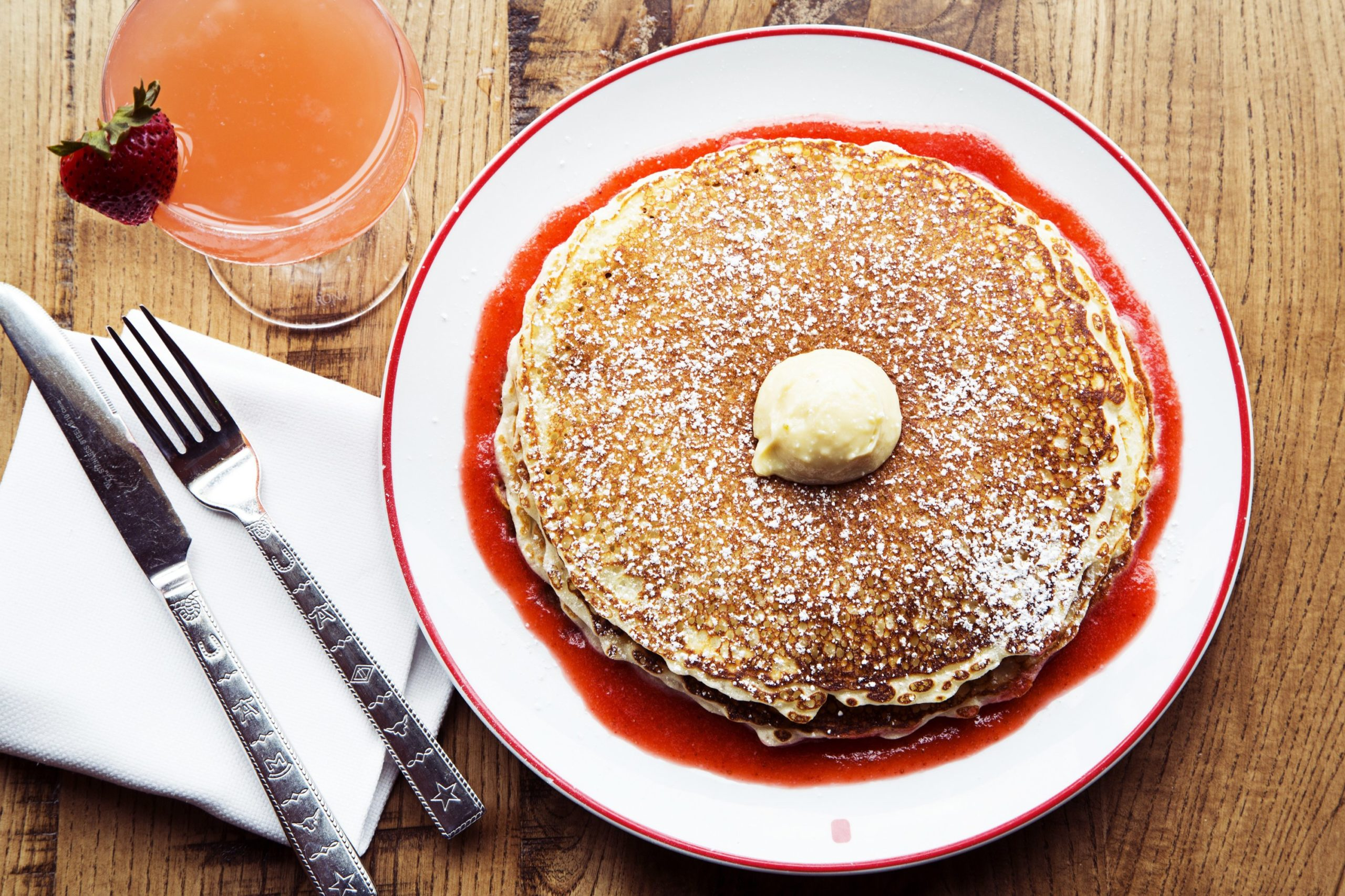 Pancakes at Founding Farmers. Photograph courtesy of Farmers Restaurant Group.